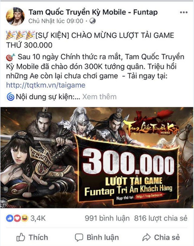 Đến dự offline game Tam Quốc Truyền Kỳ Mobile tại Hà Nội game thủ bất ngờ nhận được 1 triệu đồng 1