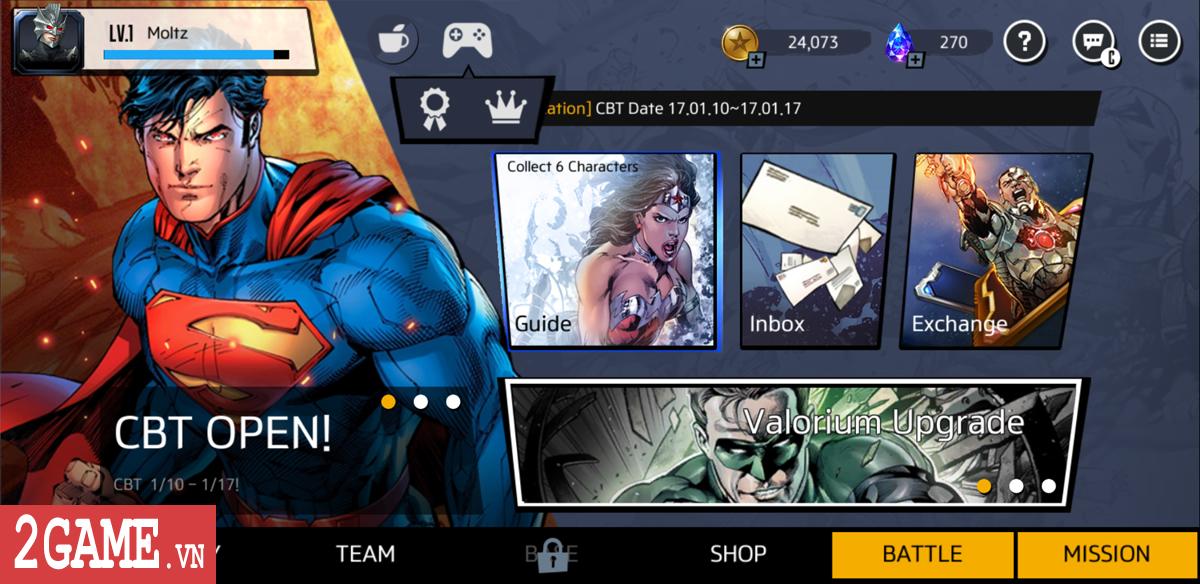 DC Unchained mobile xác nhận hỗ trợ game thủ đến từ Việt Nam vào chơi 1