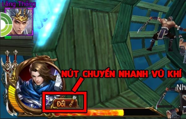 Siêu Thần Chiến Tướng cho phép người chơi hoán đổi vũ khí trong tíc tắc 0