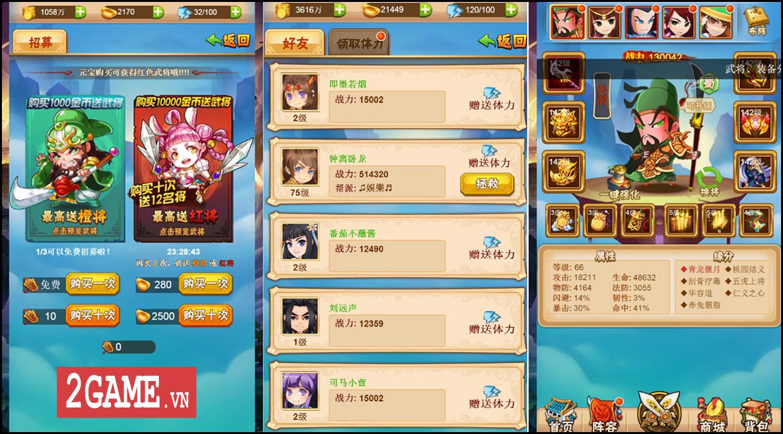 Chơi thử 3Q H5 - Game thẻ tướng Tam Quốc chạm phát