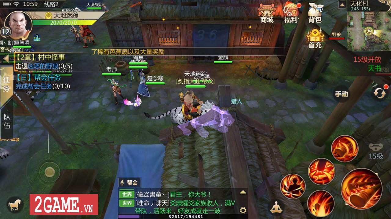 Top 8 game nhập vai có lối chơi gần giống Võ Lâm Truyền Kỳ Mobile nhất 7