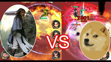 Cậu Vàng pk Dương Quá trong game mobile Luận Kiếm Giang Hồ