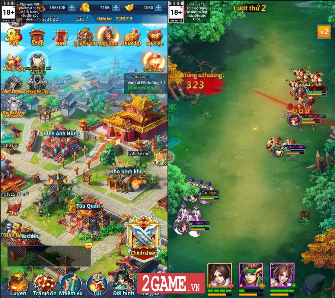 Game Kinh Điển Tam Quốc mang tính giải trí vì dễ chơi, nhưng mặt chiến thuật lại khá đa dạng 0