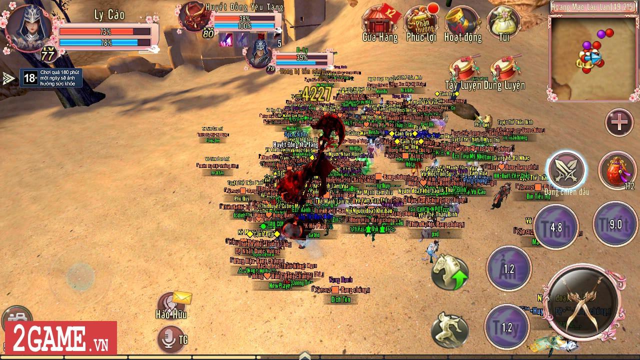 Mỗi bước đi trong 360mobi Kiếm Khách VNG người chơi lại được lắng nghe một câu chuyện võ hiệp thú vị 5