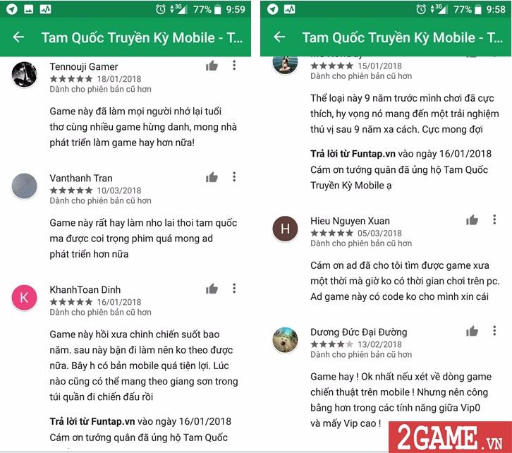 Lọt Top GooglePlay, Tam Quốc Truyền Kỳ Mobile chứng minh đẳng cấp số 1 dòng game chiến thuật 2