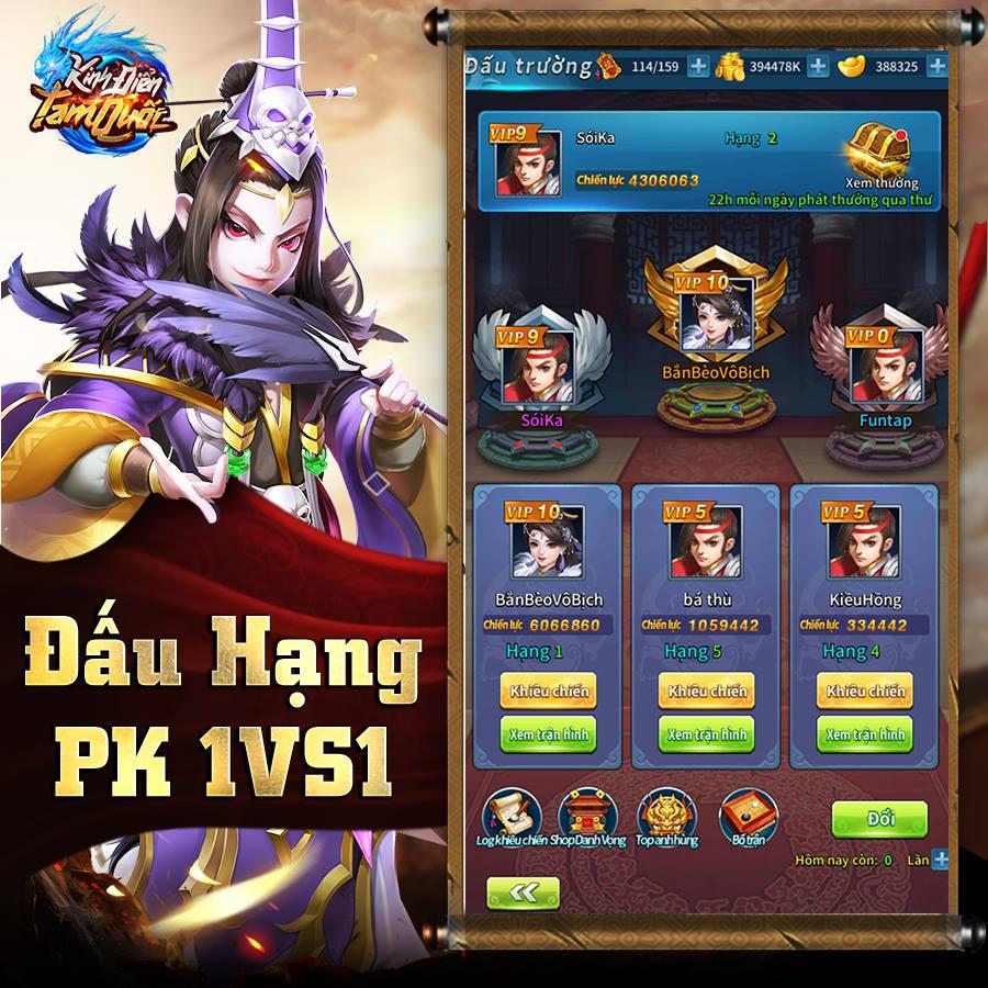 Kinh Điển Tam Quốc được cho là game mobile cân não dành riêng cho tín đồ chiến thuật 4