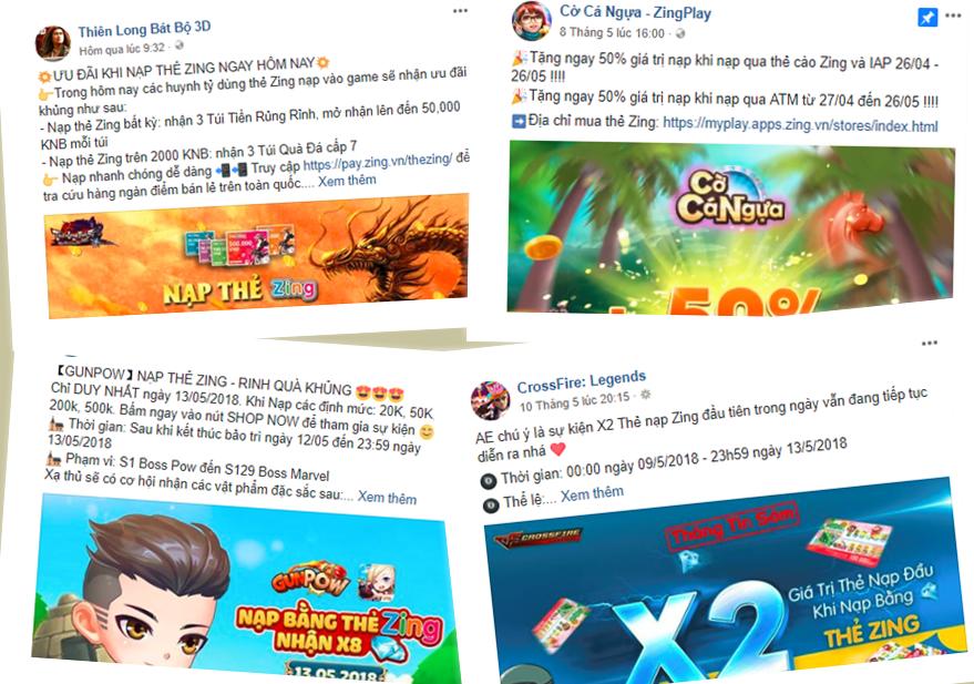 Hàng loạt trò chơi ưu đãi khủng cho game thủ khi nạp thẻ Zing vào game 1