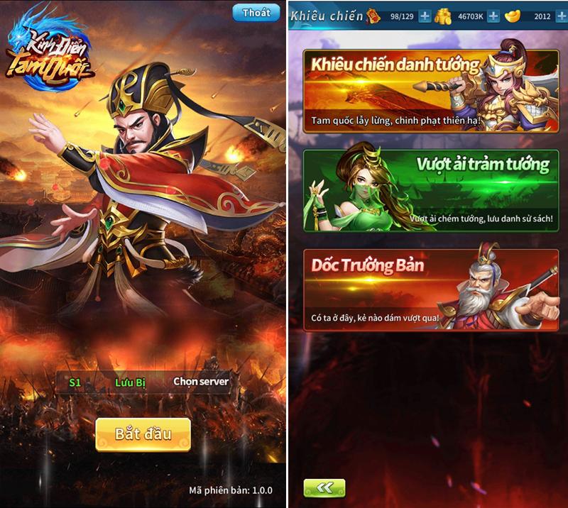Kinh Điển Tam Quốc - Game mobile chiến thuật bài bản và cân não 0