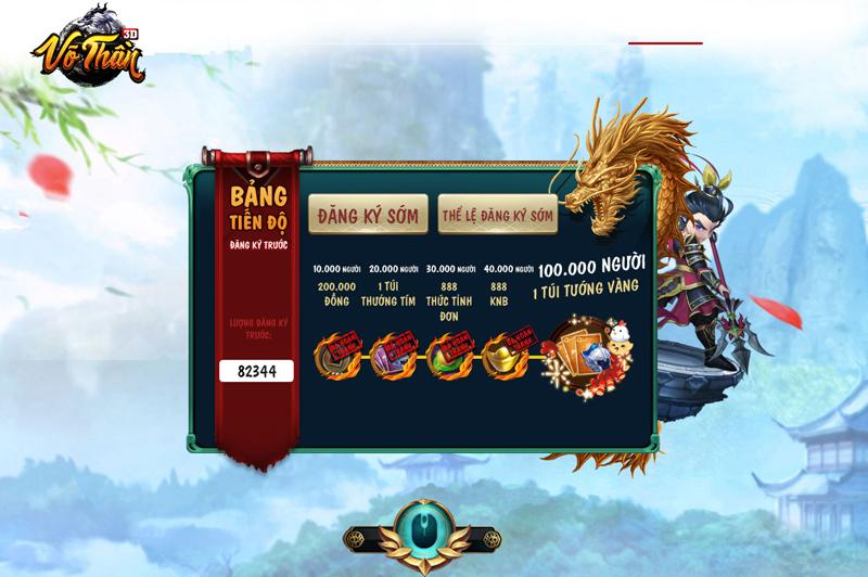 Game mobile Võ Thần 3D sắp cán mốc 100.000 đăng ký sớm 2