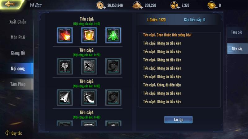 Những điều người chơi cần biết về hệ thống Võ Học trong game Cửu Dương VNG 3