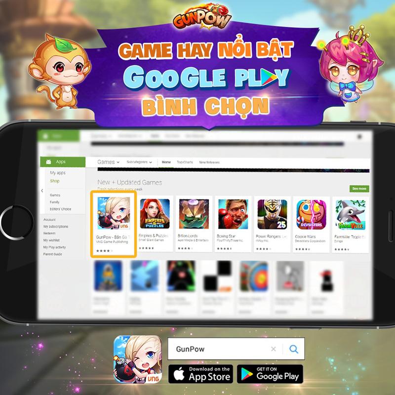 GunPow vinh dự lọt vào Top Game Hay do Google Play bình chọn đợt mới nhất 1