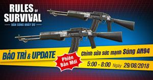 Rules of Survival Mobile tiếp tục điều chỉnh sát thương của một số loại vũ khí thông dụng