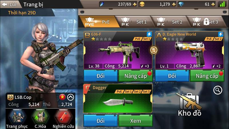 Khi game bắn súng Tốc Chiến Mobile sở hữu hệ thống lên đồ như dòng game nhập vai 5
