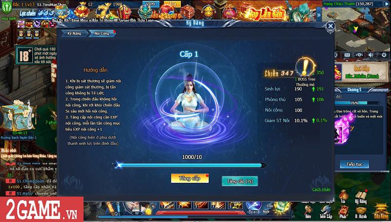 Choáng ngợp với gameplay đồ sộ hỗ trợ tối đa việc phát triển nhân vật trong webgame Nghịch Thủy Hàn 12