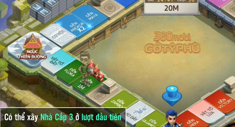 Cận cảnh bản đồ Tay Thần đặc sắc trong 360mobi Cờ Tỷ Phú vừa được VNG ra mắt 2