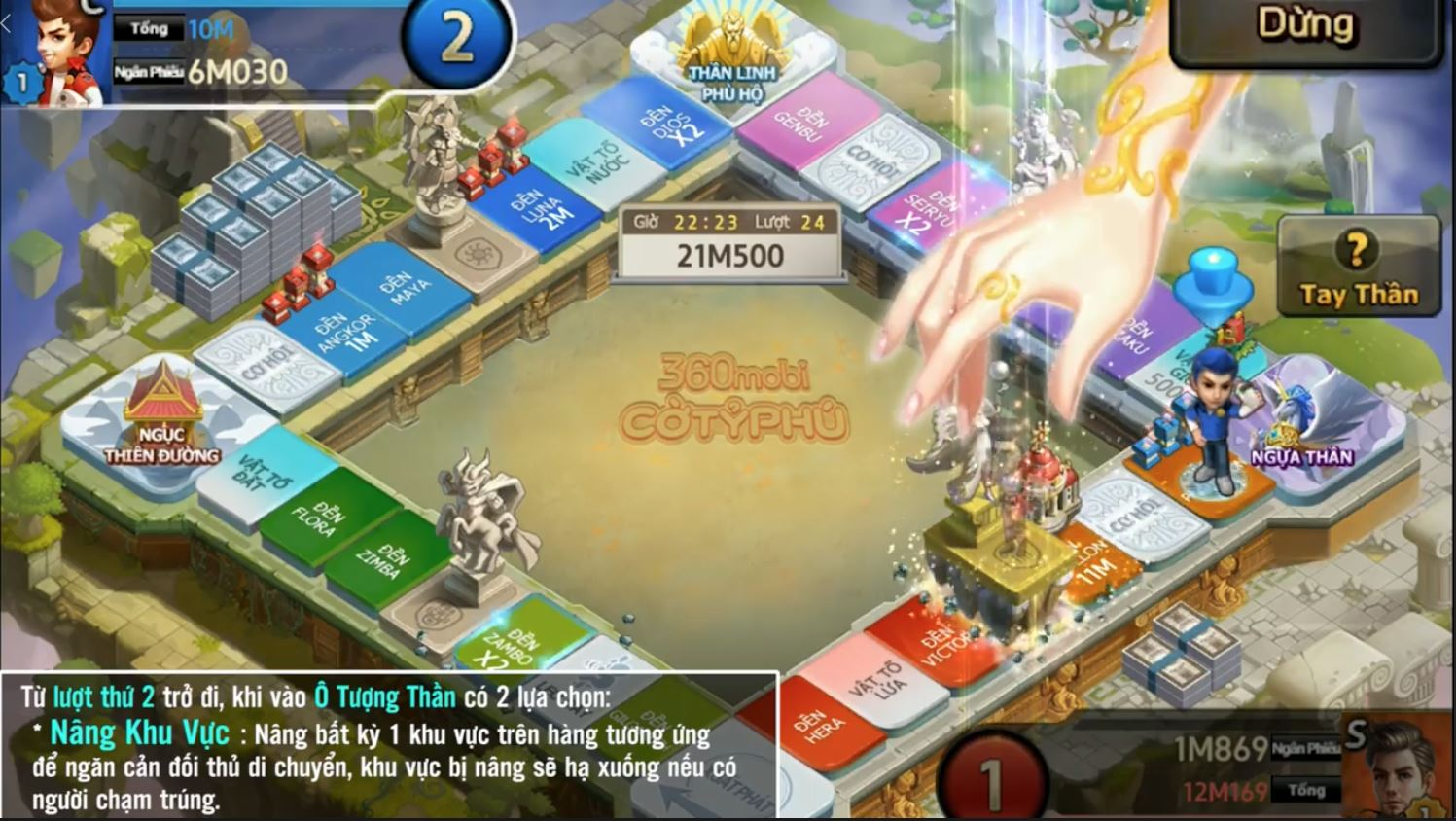 Cận cảnh bản đồ Tay Thần đặc sắc trong 360mobi Cờ Tỷ Phú vừa được VNG ra mắt 1