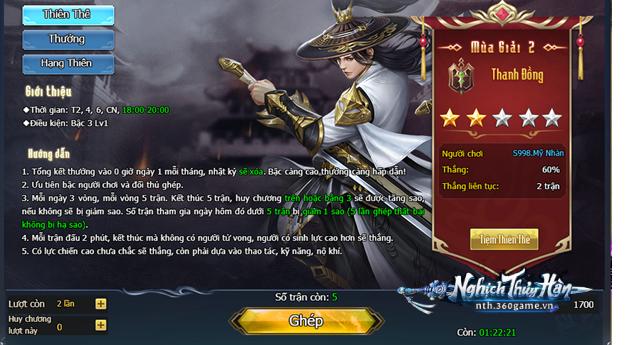 Bạn đã thử qua chiến trường liên server 1vs1 đẳng cấp trong webgame Nghịch Thủy Hàn chưa?! 1