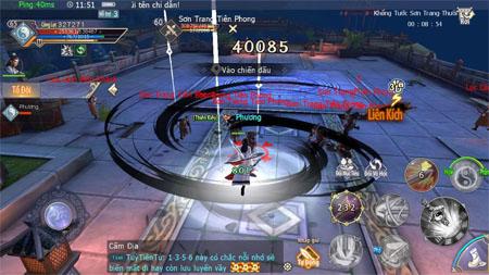 Cửu Âm 3D VNG cho phép game thủ sử dụng đến tận 30 kỹ năng khi tham chiến