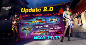 Nhiều vũ khí hạng nặng được đưa đến tay người chơi Tốc Chiến Mobile trong bản Big Update 2.0