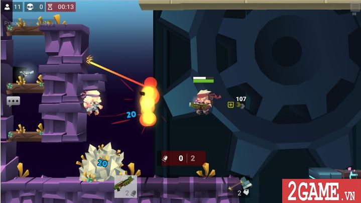 Bullet League - Game mobile sinh tồn sử dụng đồ họa 2D cuộn cảnh độc đáo 2