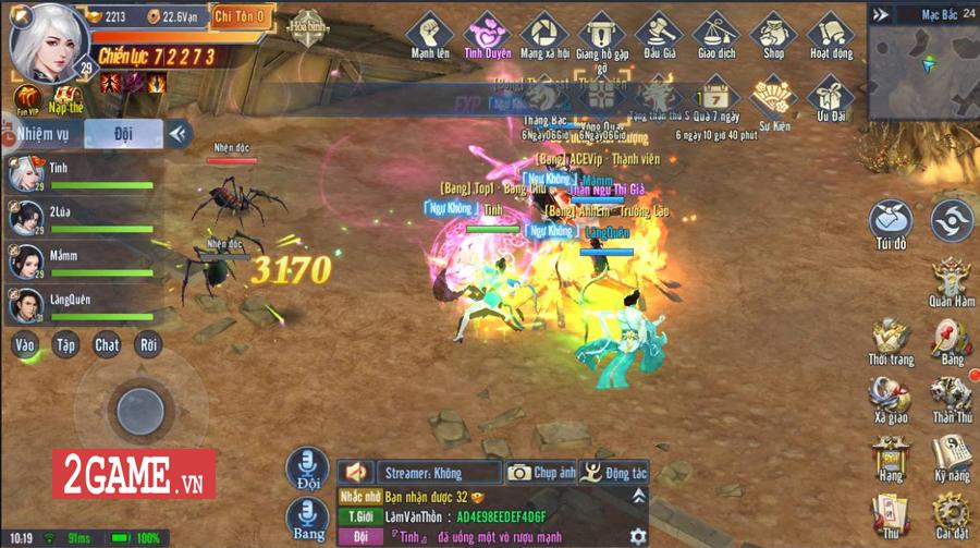 Tình Kiếm 3D Mobile là game kiếm hiệp vô phái, cho người chơi tự do chuyển đổi vũ khí chiến đấu 8