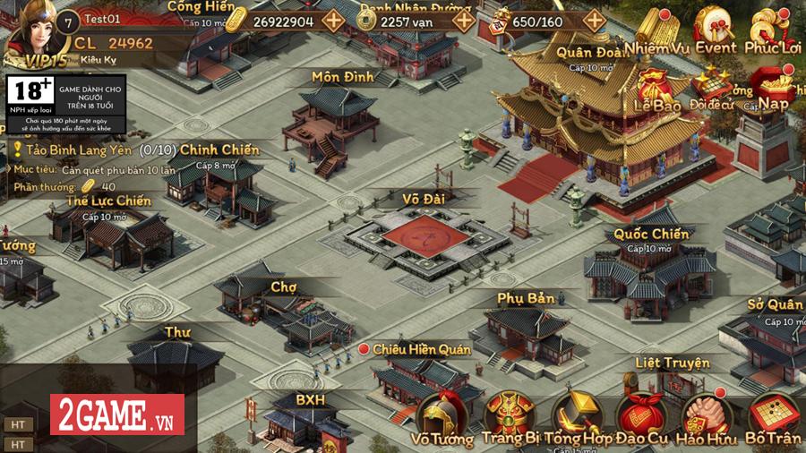 Game mobile chiến thuật dụng binh Cửu Châu Tam Quốc Chí về Việt Nam 0