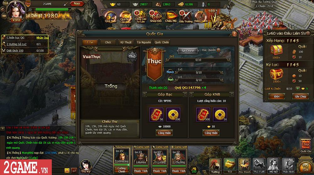 Sự xuất hiện của Loạn Tam Quốc giúp game thủ có webgame chiến thuật hay ho để chơi 13