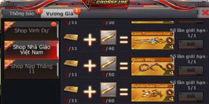 Cơ hội sở hữu vũ khí VIP Crossfire Legends với giá ưu đãi thông qua hoạt động và Shop Nhà Giáo Việt Nam