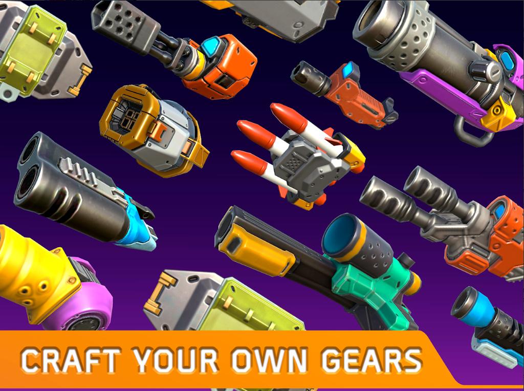 Turbo Squad cho người chơi tự sáng tạo nên phương tiện chiến đấu của riêng mình 5