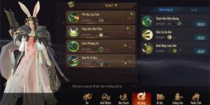 Kiếm Thế Mobile VNG thử thách người chơi ngay ở phần tùy chọn võ công xuất chiến