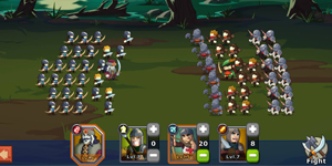 Knights and Glory – Game giả lập có lối chơi biến thể từ thể loại chiến thuật thẻ tướng