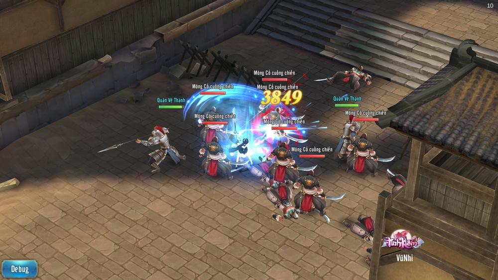 Tình Kiếm 3D Mobile là game kiếm hiệp vô phái, cho người chơi tự do chuyển đổi vũ khí chiến đấu 6