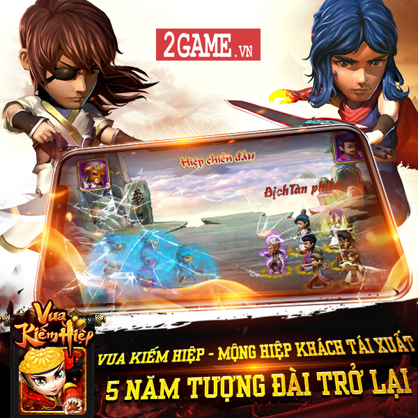 Vua Kiếm Hiệp - Tân Chưởng Môn: Tựa game đấu thẻ tướng ra đời cùng thời Summoners War, Boom Beach về Việt Nam 0