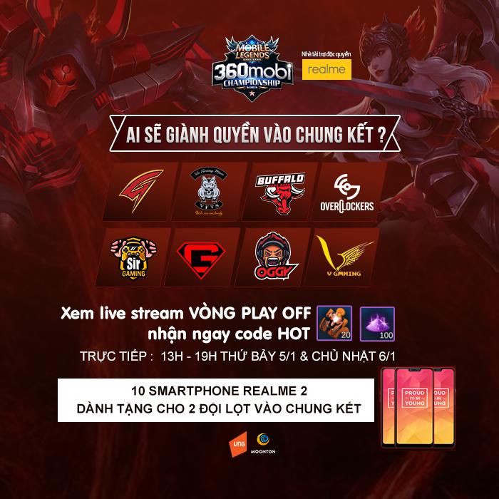 Hứa hẹn đầy gay cấn tại vòng Play-off giải Mobile Legends Bang Bang VNG 1