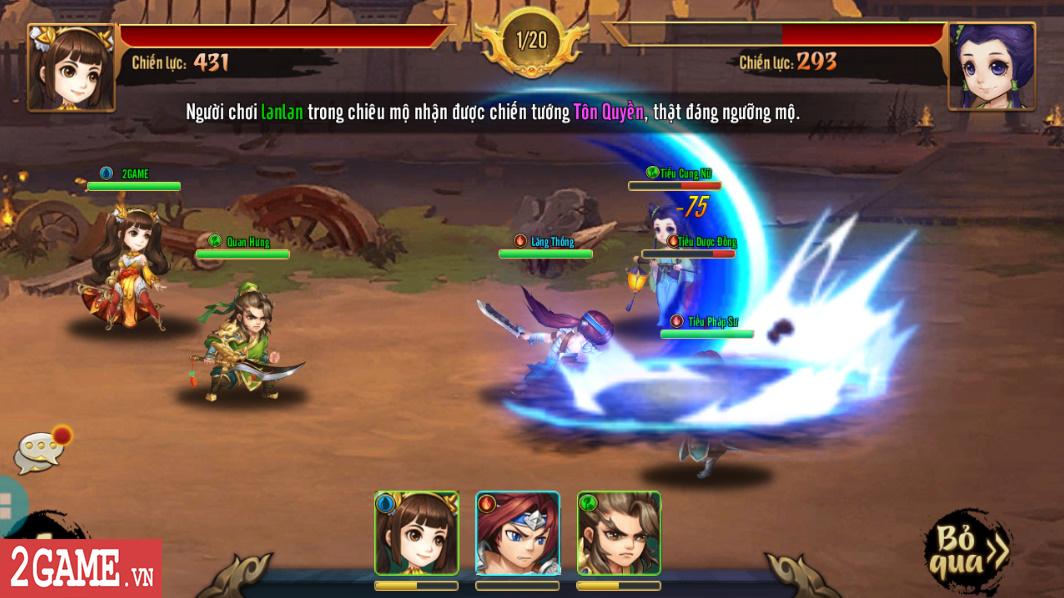Trải nghiệm Rồng 3Q Mobile: Lối chơi thẻ tướng quen thuộc trên nền đồ họa phong cách chibi hiện đại 11