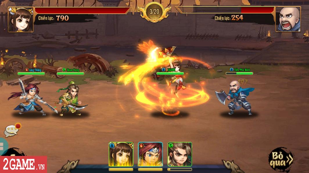 Trải nghiệm Rồng 3Q Mobile: Lối chơi thẻ tướng quen thuộc trên nền đồ họa phong cách chibi hiện đại 3
