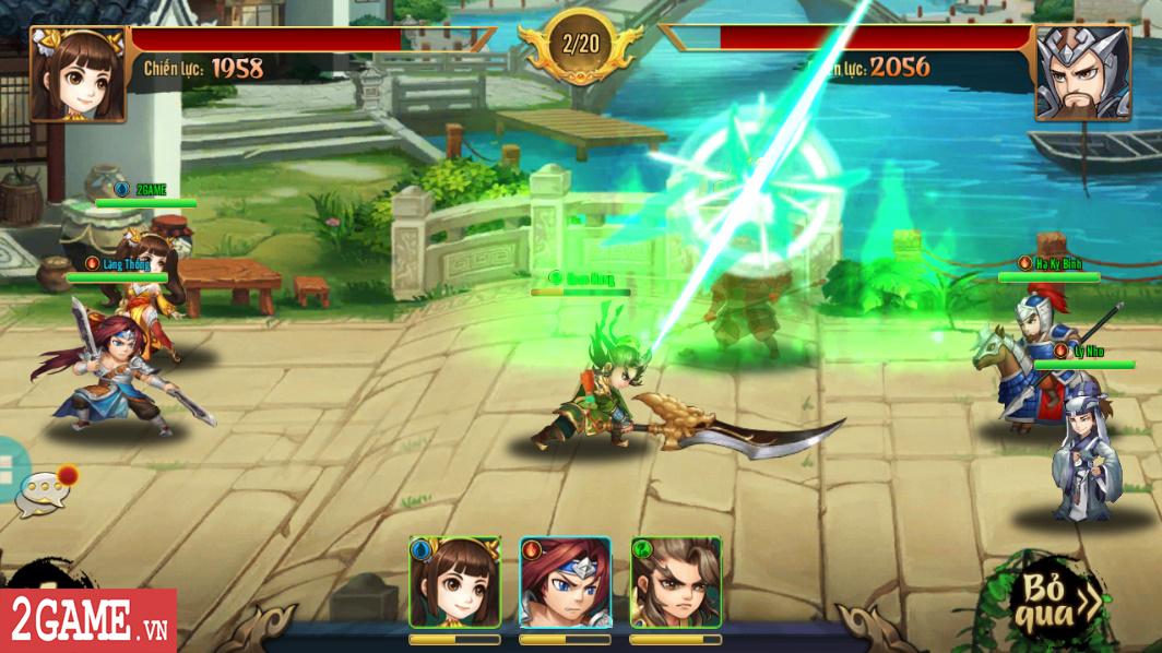 Trải nghiệm Rồng 3Q Mobile: Lối chơi thẻ tướng quen thuộc trên nền đồ họa phong cách chibi hiện đại 5