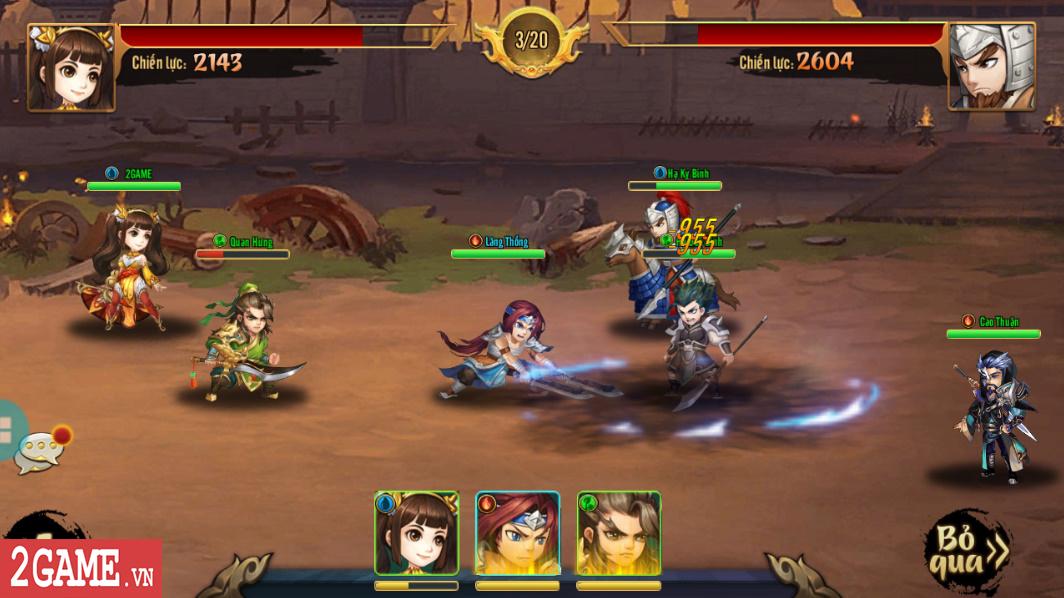 Trải nghiệm Rồng 3Q Mobile: Lối chơi thẻ tướng quen thuộc trên nền đồ họa phong cách chibi hiện đại 6