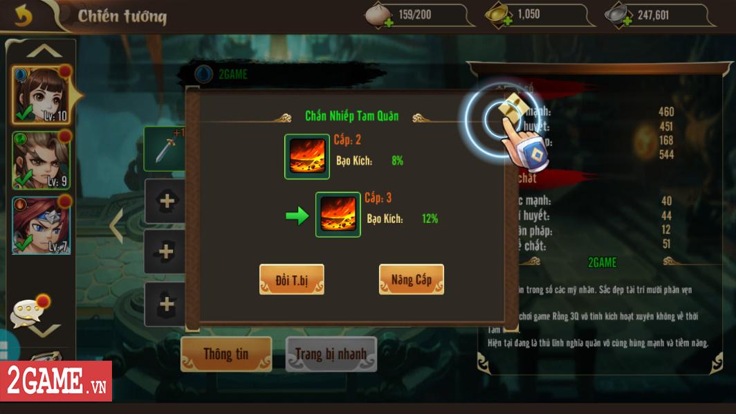 Trải nghiệm Rồng 3Q Mobile: Lối chơi thẻ tướng quen thuộc trên nền đồ họa phong cách chibi hiện đại 8