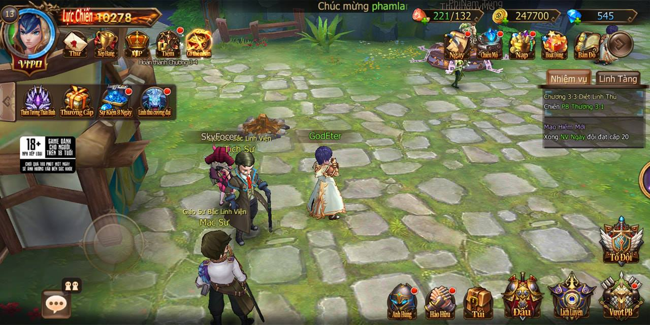 Trải nghiệm Đại Chúa Tể Mobile: Đồ họa mượt mà, kết hợp thú vị giữa game nhập vai hành động và đấu thẻ tướng 12