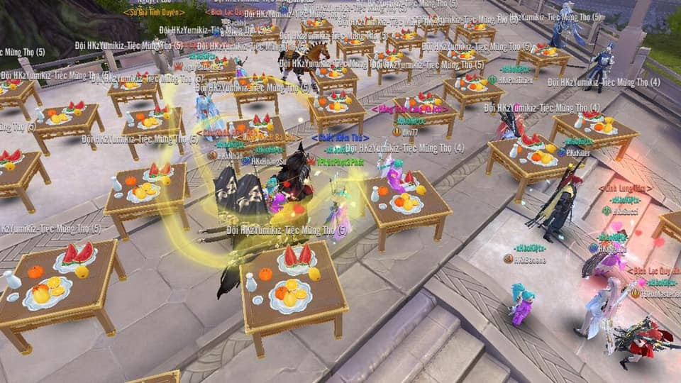 Tán tỉnh chưa đủ, game thủ Kiếm Thế Mobile VNG đãi luôn tiệc cưới cả trăm mâm 4