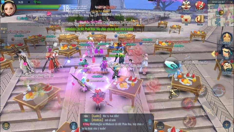 Tán tỉnh chưa đủ, game thủ Kiếm Thế Mobile VNG đãi luôn tiệc cưới cả trăm mâm 5