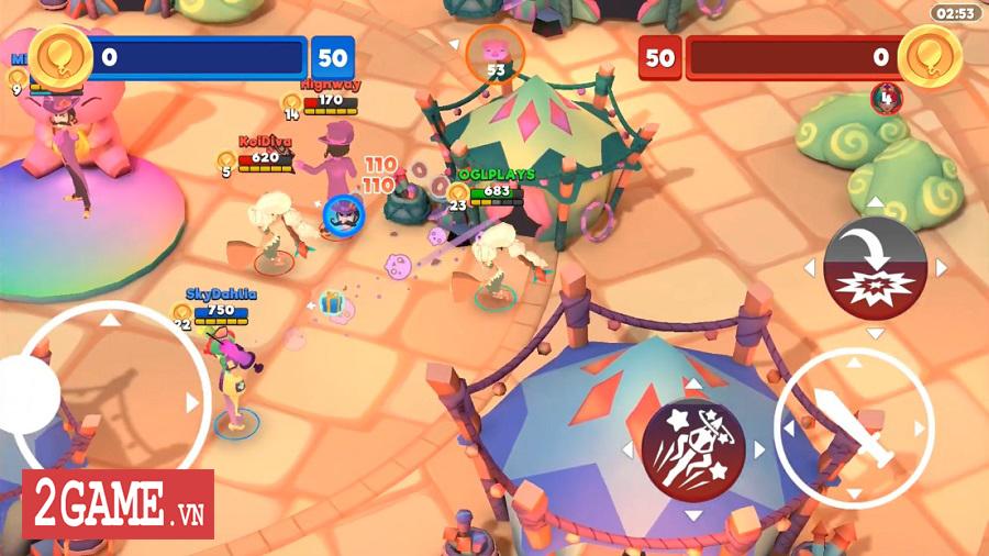 Bash Arena - Game loạn chiến 3v3 với nền tảng đồ họa vui nhộn và đầy màu sắc 0