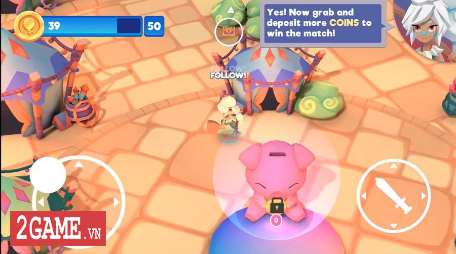 Bash Arena - Game loạn chiến 3v3 với nền tảng đồ họa vui nhộn và đầy màu sắc 2