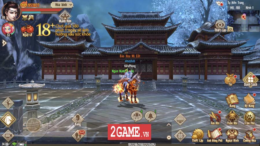 Tân Thiên Long Mobile VNG mang đến một thế giới kiếm hiệp rộng lớn không kém cạnh bản PC là mấy 4