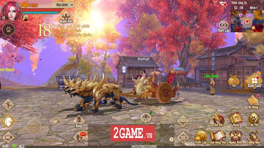 Tân Thiên Long Mobile VNG mang đến một thế giới kiếm hiệp rộng lớn không kém cạnh bản PC là mấy 7