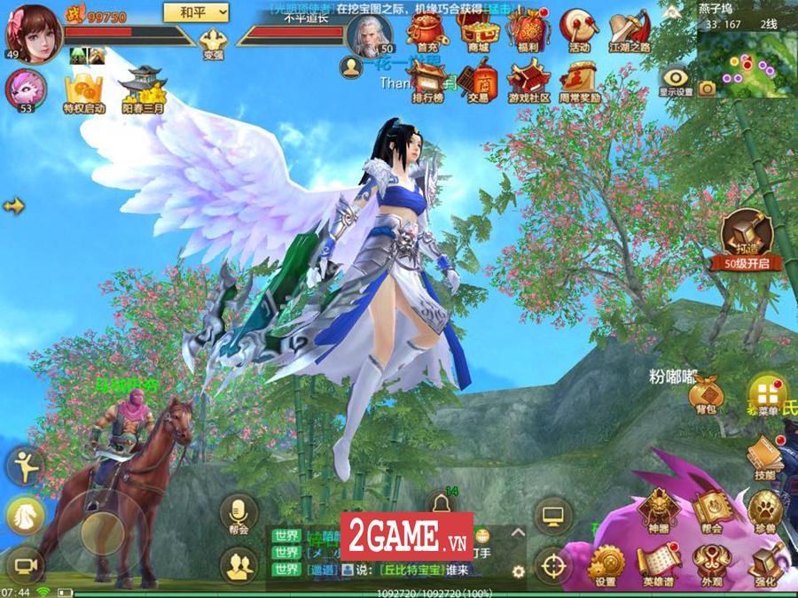 Tân Thiên Long Mobile VNG mang đến một thế giới kiếm hiệp rộng lớn không kém cạnh bản PC là mấy 5