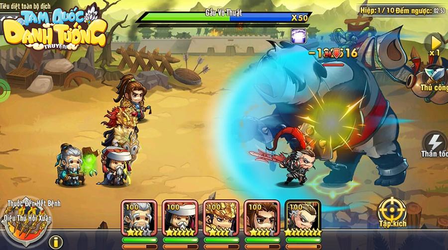 3Q Ai Là Vua - Game thẻ tướng với tạo hình cute cập bến làng game Việt 3