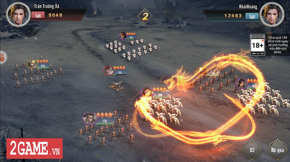 Bày binh bố trận luôn là món ăn chính trong Tam Quốc Vương Giả Mobile 4