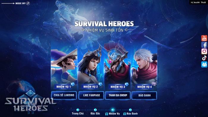 Cuối cùng Survival Heroes Việt Nam đã chịu ra mắt fan game MOBA và Sinh tồn 1